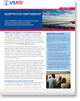 Adaptation partnership
