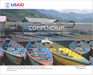 Cover image of CCRD Compendium book showing boats on lake pokhara nepal